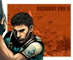 chris redfield resident evil 5 by flo-moshi