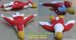 LoZ Link's Crimson Loftwing Plush by IchibanVictory