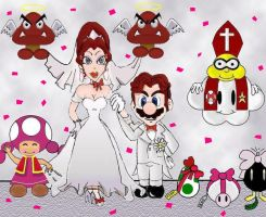 Mario and Pauline wedding by wiggler94