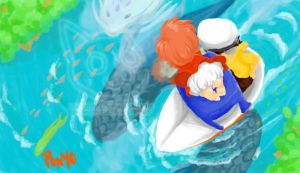 Ponyo: Little boat by MiyomotheCat