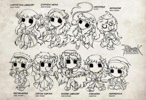 RO- late character design lineart by art-rinay