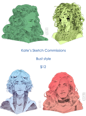 Sketch Comms ( UPDATED! ) by kateheichou