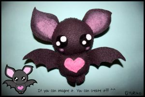 Cute bat plush by o-YuRiko-o