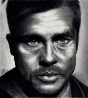 Nazi Killer - Brad Pitt by Rick-Kills-Pencils