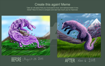 Meme: Before and After: Windfox by kristhasirah
