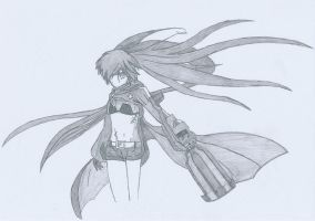 Black Rock Shooter Sketch by Tyronesc