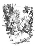 Poison Ivy pencils by deankotz
