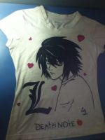 L Death Note T-Shirt by ChibiStarChan