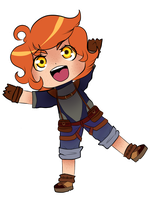 5$ Chibi Commission: Curie! by HopeBat