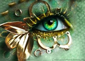 Steam Punk Dragon Eye by cryingunderwater