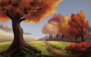 Autumn path by Orbes