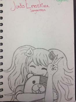 My Drawing of Junko Enoshima from Danganropa by LizDragneel