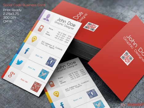 Social Code Business Card by khaledzz9