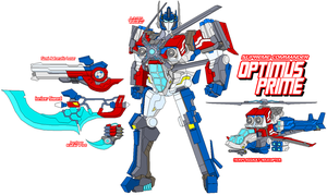 Autobot Optimus Prime - Air Mode by Tyrranux