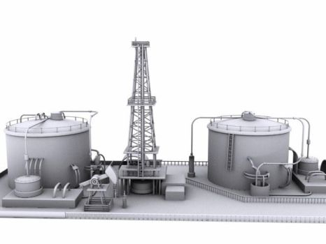 oil and gas plant by Anil4Animal