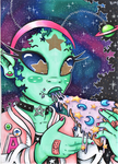 SPACE PIZZA by JammyScribbler
