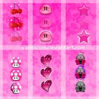 7 Pinkish Orbs -Pack- by VanillApple