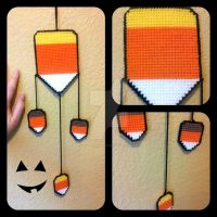 Candy Corn Wall Hanging by ravenaudron
