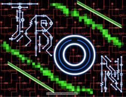 Tron Digital Painter @ Disney.com - Tron ID Disk by SilverShadowSpark