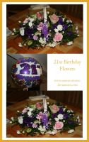 21st Birthday Flowers by serena-inverse