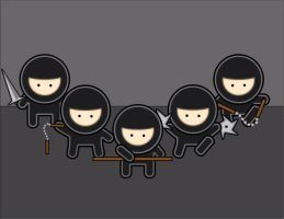 Ninja Army by Dreary-Blood