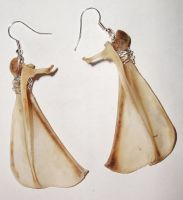 Rabbit Scapula Earrings SOLD by Killslay-steelclaw
