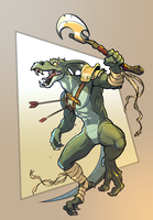 Lizardman Warrior 1 by Glumych