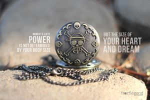 One Piece Quote - POWER by froztlegend