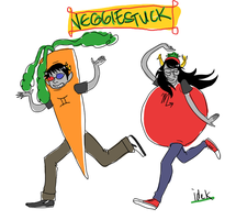carrotlux and vriskmato by iHeartNargles