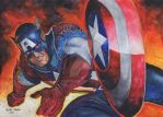 Captain America by chizzel