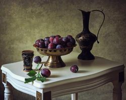 Still life with plums by Daykiney
