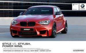 BMW 1 series hatch M-kit proposal_front by yasiddesign