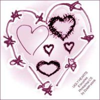 Ugly Hearts by zzaarr-stock