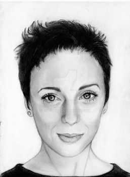 Amanda Abbington (Graphite Drawing) by julesrizz