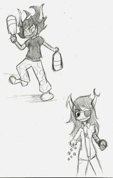 Vriska And Gamzee Request by TwinAl