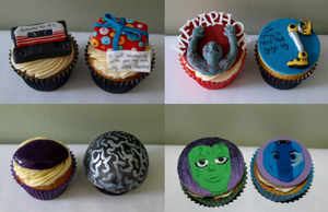 Guardians Of The Galaxy Cupcakes close-ups by sparks1992