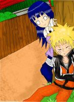 NaruHina-Sleeping Naruto by RinALaw