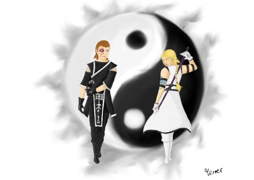 Ying Yang: Opallia and Iona by Wirrer