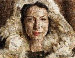 A mosaic of Claire Fraser by Kath-13
