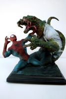 Spiderman vs. The Lizard Bust by FritoFrito