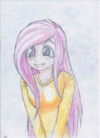 humanized flutter shy, squee moment again by HanaAtori