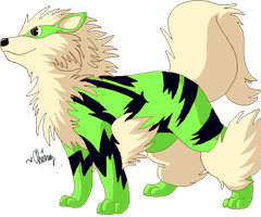 green arcanine by Chiroyo