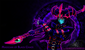 +Dark Magician of Chaos+ by slifertheskydragon