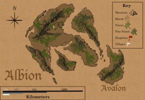 Map of Albion by TaraPrince