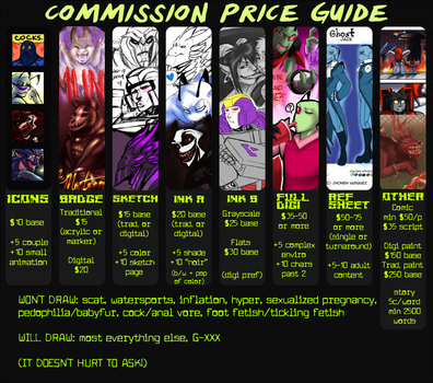 OFFICIAL COMMISSION PRICE GUIDE v2 by Critical-Error