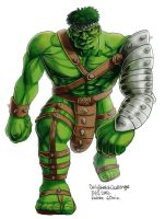 Daily Sketches World War HULK by fedde