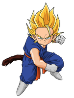Kid Vegetunks SSJ by RobertoVile