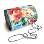 one stroke painted wooden bag by catshome