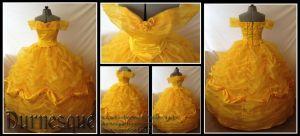 Belle's Rose-covered Ballgown by Durnesque