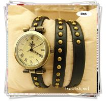 Fashion style bracelet leather watch by ailsalu